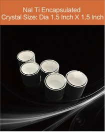 NaI Tl scintillation crystal, Thallium doped Sodium Iodide scintillation crystal, NaI Tl scintillator diameter 1.5 inch x 1.5 inch